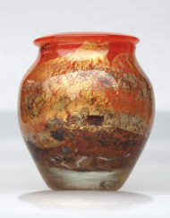 Vase Jean Claude Novaro rouge et or red and gold Galerie Maxime Marche Vernaison