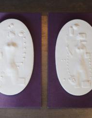 2 Sculptures Marc Boussac Porcelaine Sevres Galerie Maxime Marche Vernaison