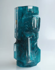 Grand Huge vase Cristal Daum France Argos Galerie Maxime Marché Vernaison