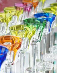 Verres Roemer Vin du Rhin Cristal Baccarat Harcourt Galerie Maxime Marché Vernaison