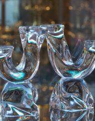 Bougeoirs Cristal Daum Galerie Maxime Marché Vernaison