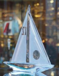 Voilier Cristal Daum Galerie Maxime Marche Vernaison