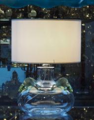 Lampe Cristal Lalique Poissons Galerie Maxime Marche Vernaison