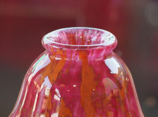 Vase Charles Schneider Marbré rouge Galerie Maxime Marché Vernaison