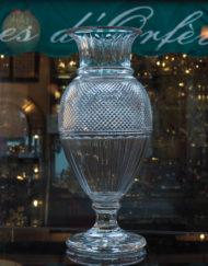 Vase Cristal Baccarat Edwige Reproduction du musee Galerie Maxime Marche Vernaison