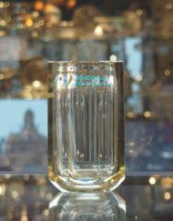 Vase Daum Art Deco jaune Galerie Maxime Marche Vernaison