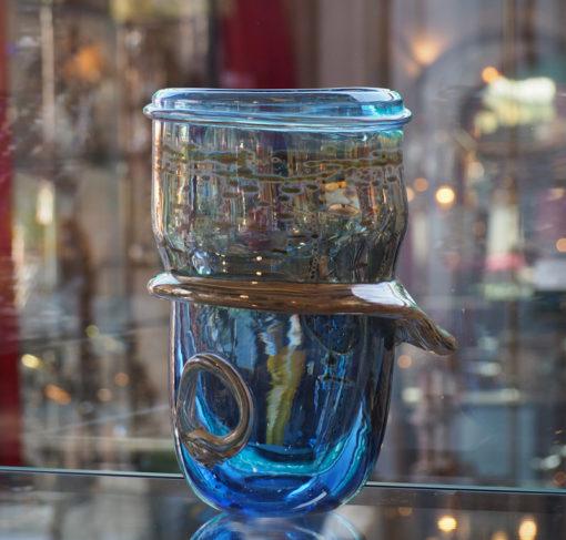 Vase Louis Leloup Bleu Galerie Maxime Marché Vernaison