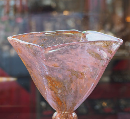 Vase coupe Charles Schneider Paillons argent Galerie Maxime Marché Vernaison
