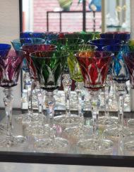 12 verres Roemer vin blanc couleur Cristal Saint Louis Camargue Galerie Maxime Marché Vernaison
