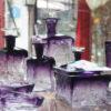 Garniture toilette Cristal Moser violet Galerie Maxime Marché Vernaison
