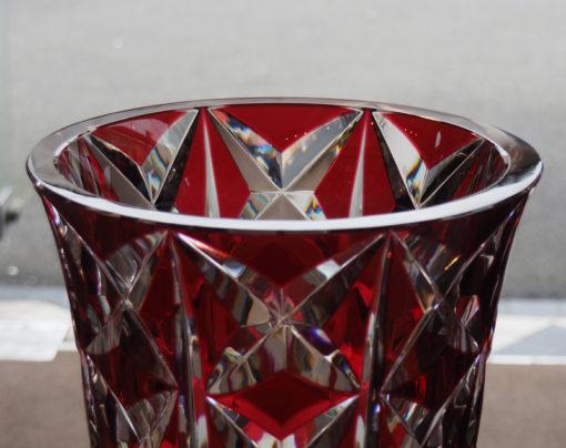 Vase Deauville Rouge Cristal Saint Louis 40 cm Galerie Maxime Marché Vernaison