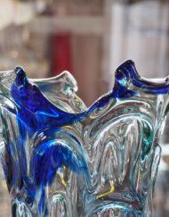 Grand vase Jean Claude Novaro Biot bleu Galerie Maxime Marché Vernaison