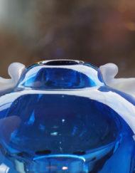 Vase Jean Claude Novaro bleu bulle Galerie Maxime Marché Vernaison