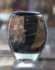Vase Jean Claude Novaro noir or calcédoine Galerie Maxime Marché Vernaison