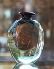 Vase Jean Claude Novaro noir paillettes or Galerie Maxime Marché Vernaison