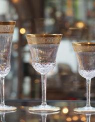 Verres Bourgogne Champagne Vin blanc Thistle Cristal Saint Louis Galerie Maxime Marché Vernaison
