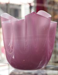 Vase Fazzoletto Venini rose Galerie Maxime