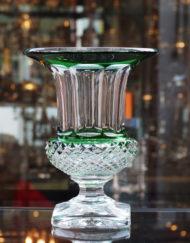 Vase Versailles Vert Cristal Saint Louis France Galerie Maxime Marché Vernaison