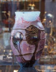 Grand Vase Jean Claude Novaro rose bleu Galerie Maxime Marché Vernaison