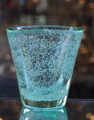 Vase Cristal Daum vert bullé 1950 Galerie Maxime Marché Vernaison