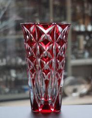 Vase Cristal Saint Louis Deauville Rouge 40 cm Galerie Maxime Marché Vernaison