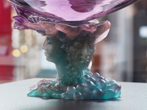 Grande Coupe Cristal Daum France Bacchus Galerie Maxime Marché Vernaison
