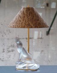 Lampe Cristal Lalique Jaguar Cheetah Lamp Galerie Maxime Marché Vernaison