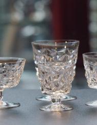 Service de verres Cristal Baccarat Muret Art Déco 1940 1950 Galerie Maxime Marché Vernaison