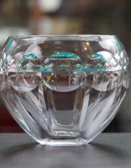 Vase Cristal Baccarat boule Art Déco Galerie Maxime Marché Vernaison
